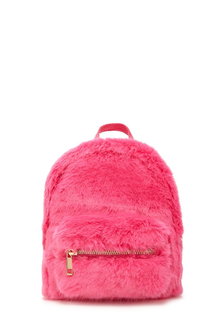 forever 21 hot pink fuzzy backpack  8451be0960f6f