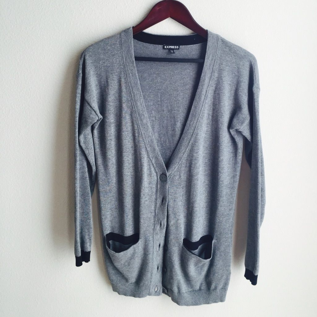 Express Grey Cardigan With Pockets | Grey cardigan and Products