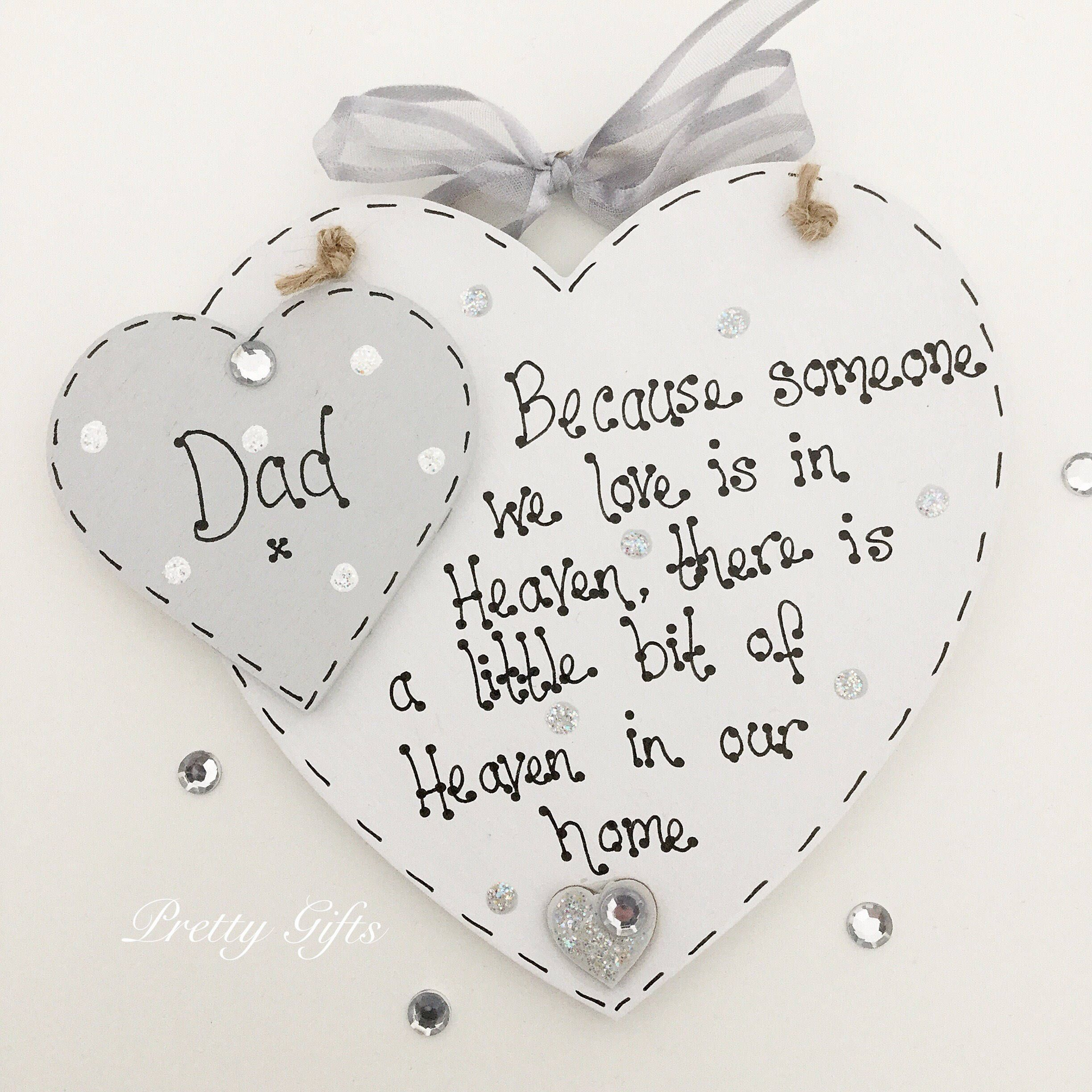 Personalised Bereavement Remembrance Gift Plaque Heaven In Our Home