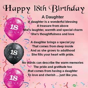 Marvelous Details About Personalised Coaster Daughter Poem 18Th Birthday Funny Birthday Cards Online Alyptdamsfinfo