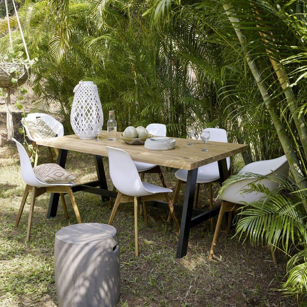 Table de jardin 6/8 personnes Countryside en acacia et métal ...