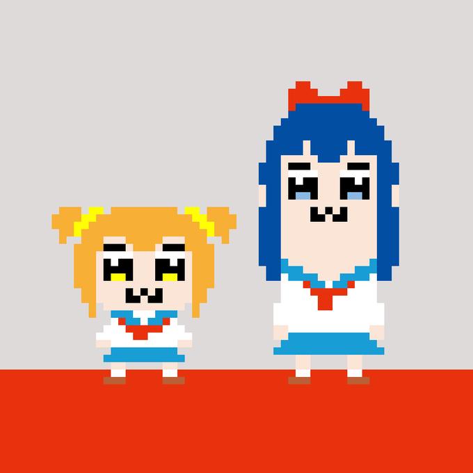 Takara Tomy Pop Team Epic Capsule Desktop Figure Popuko /& Lemon
