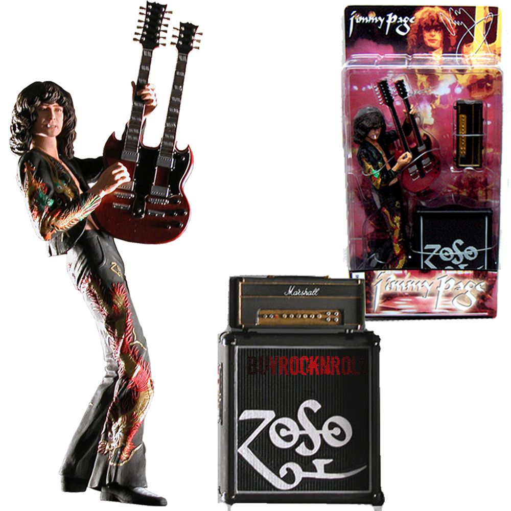 Elvis presley then amp now 25th anniversary collector s edition ebay - Led Zeppelin Collectors Memorabilia 2006 Neca Jimmy Page Figure With Guitar Amp