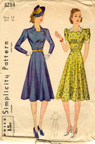 1930s Fashion | Patterns | Pinterest