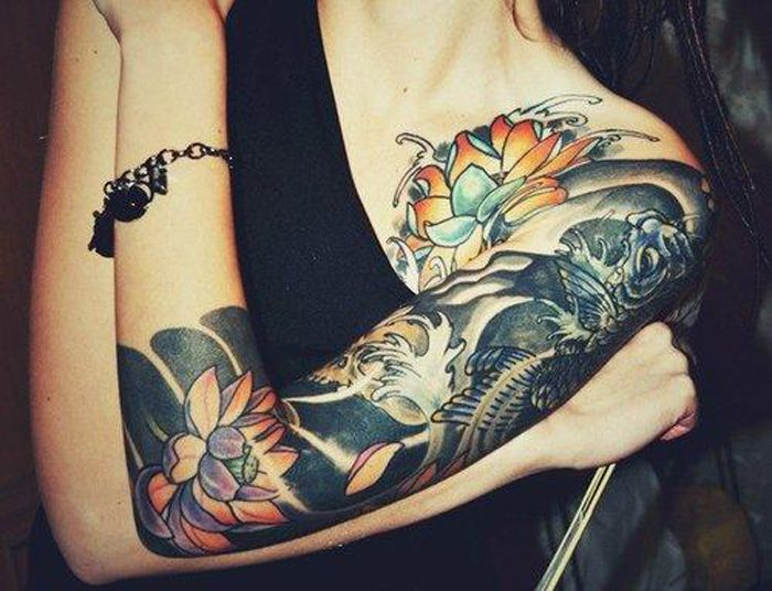 Pin By Chanel Wideman On The Body Is A Canvas Sleeve Tattoos For Women Half Sleeve Tattoo Tattoos For Women Half Sleeve