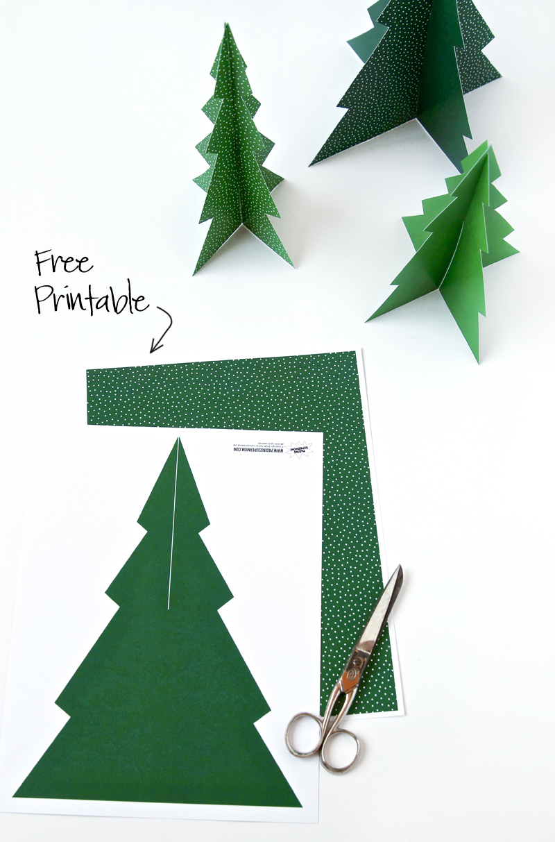 free printable 3d pine tree forrest free printables and more