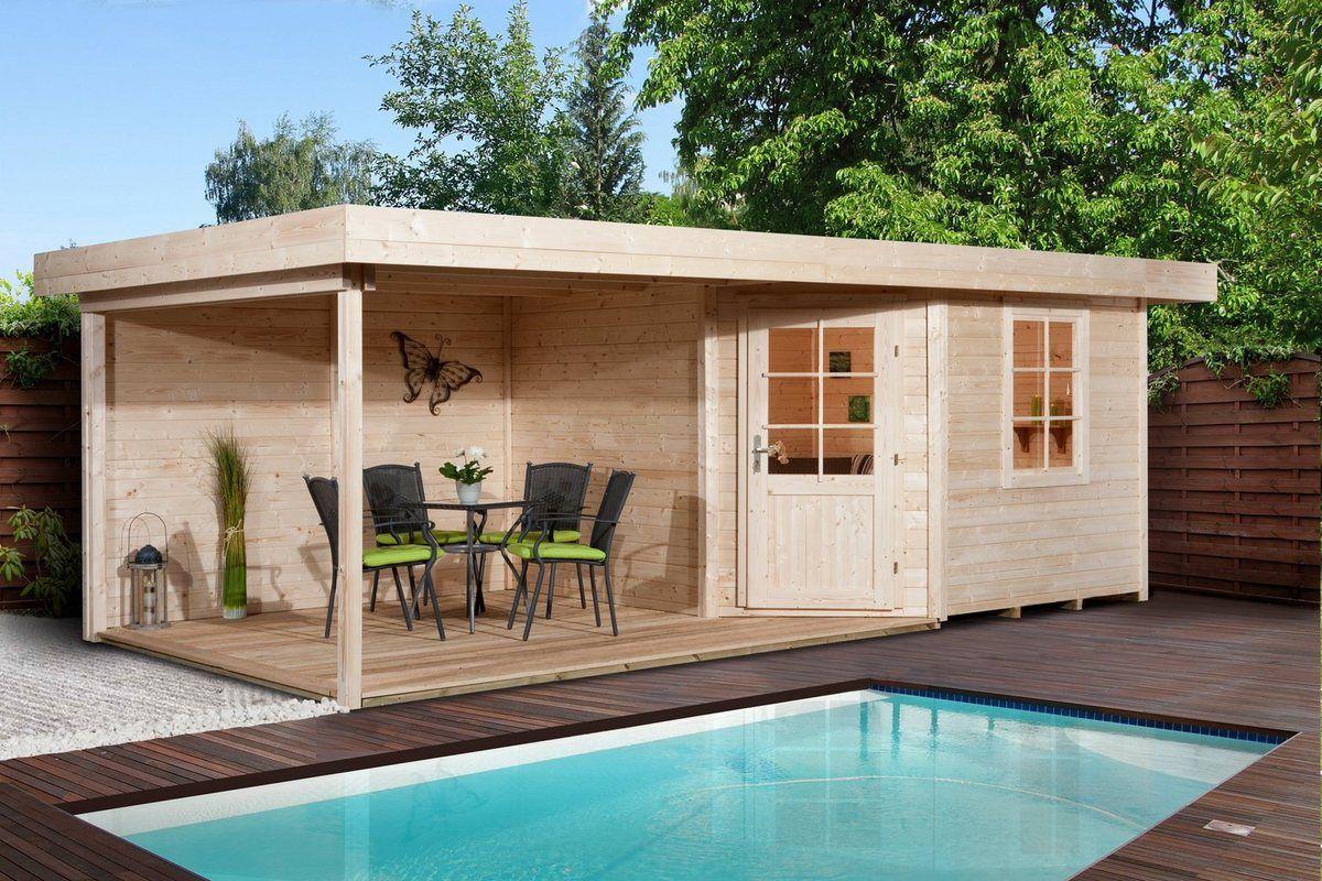 Set Gartenhaus »Designhaus 213B Gr.1«, BxT 586x278cm
