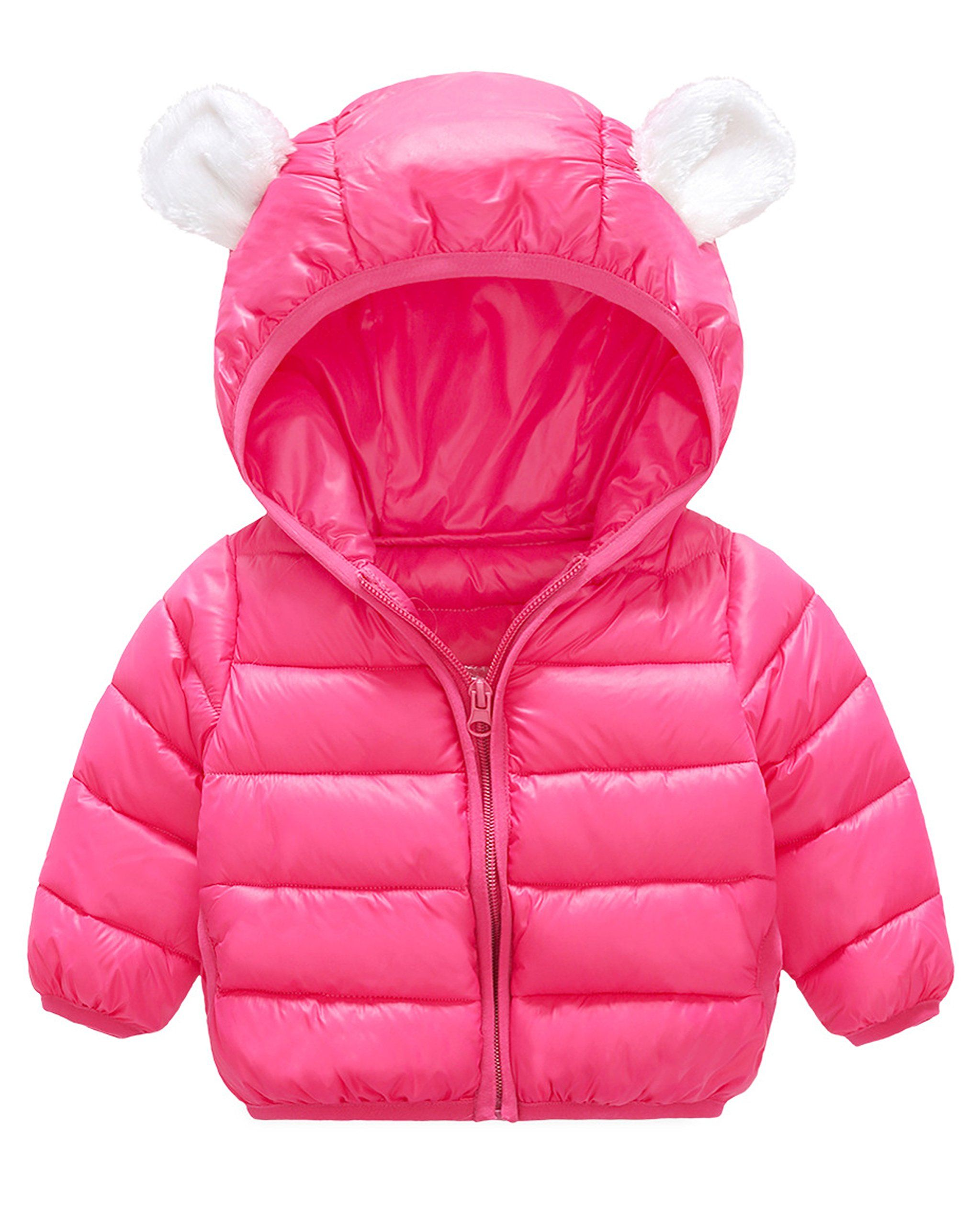 Aiffel Baby Boys Girls Cotton Small Ear Hooded Coats Kids Winter Warm Down Hooded Thicken Jacket Outerwear Size 70cm 0 6 Girl Snowsuit Kids Coats Baby Hoodie