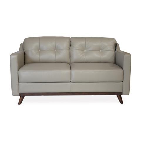 Baker Apartment Size Leather Sofa Grey Apt2b 1 Apartment