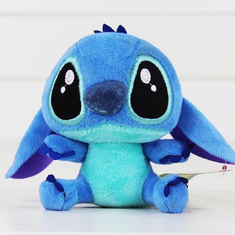 aa87d4da 10cm Lilo Stitch Kawaii Stitch stuffed Plush figure keychain pendant ...