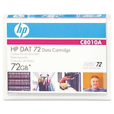 "HP 1/8 inch Tape DDS Data Cartridge - 1/8"" DAT 72 Cartridge, 170m, 36GB Native/72GB Compressed Capacity by HP. $41.40. Storage Media. Data Tapes. HP DSS cartridges provide a great low-cost, high-capacity data archiving solution. As they feature a durability rating two times greater than the industry standard, they're the perfect backup media choice for midrange servers. They deliver faster performance and a greater storage capacity, too! That translates as cartridges that r..."