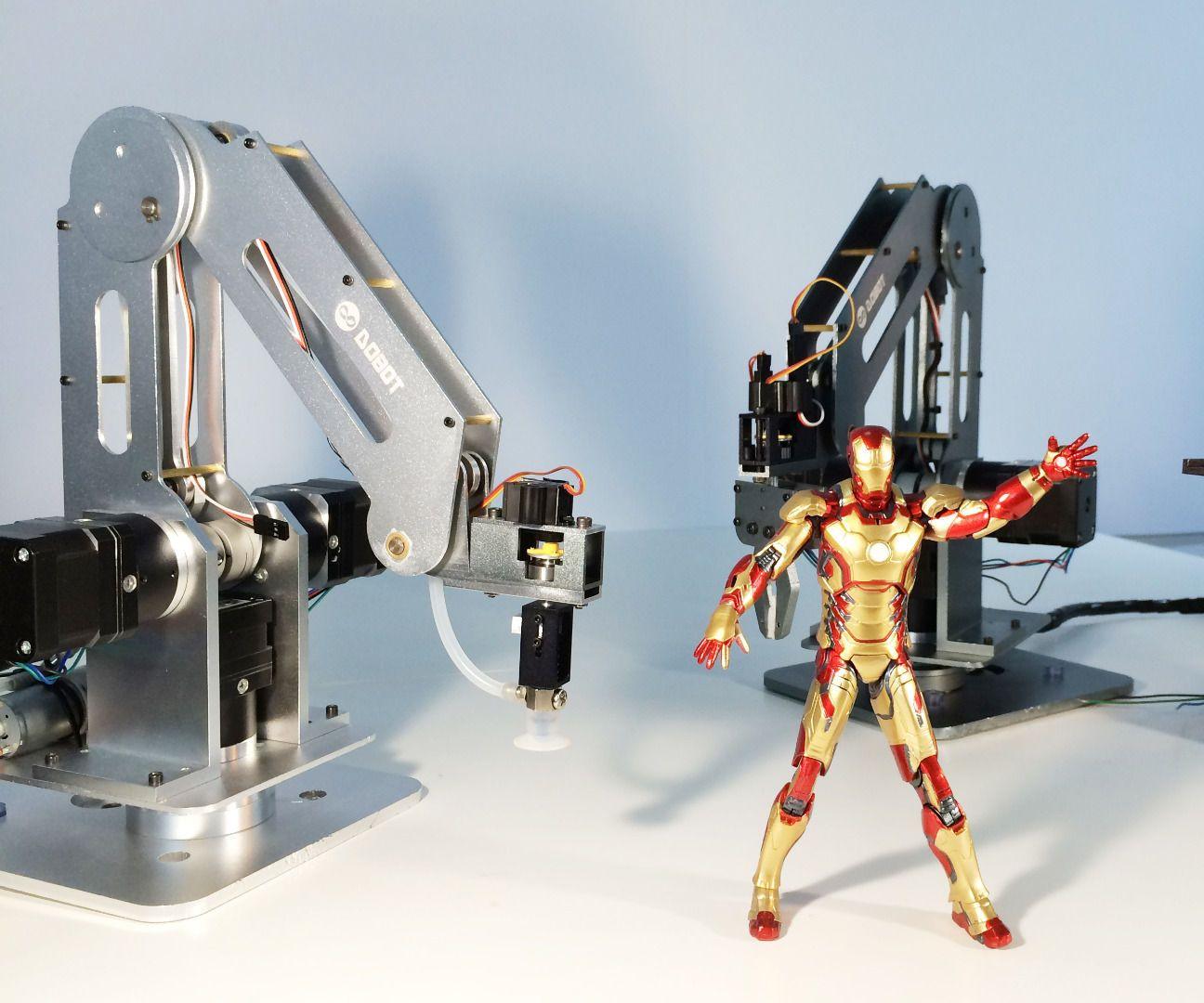 A Multi-controlled High Precision Desktop Robotic Arm | Robot arm ...