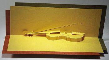 Pop Up Card Violin Bing Images