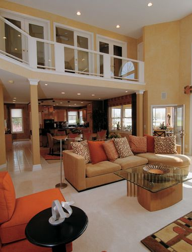 Great Room Upstairs Loft Entertainment Space Great Rooms