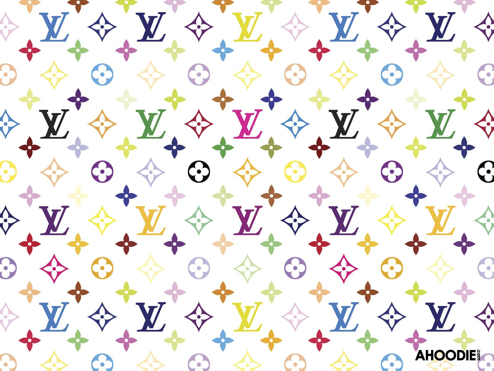 Louis Vuitton Logo Wallpaper Louis Vuitton Lv Multi Color