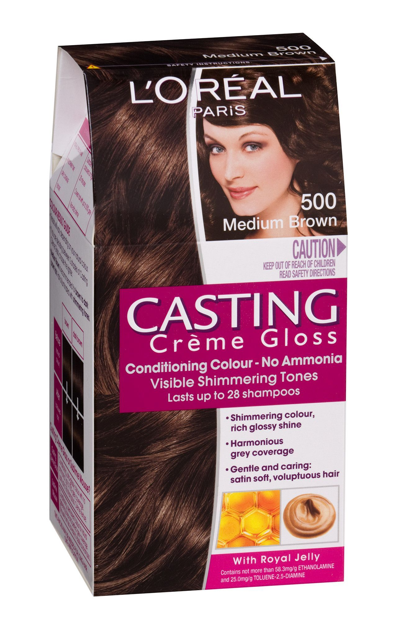 Loreal Paris Casting Cream Gloss 500 Medium Brown With Images
