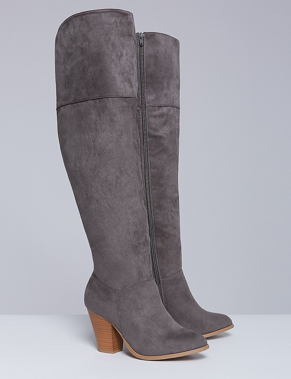 8000d7e6f81 Over-the-Knee Boot with Block Heel