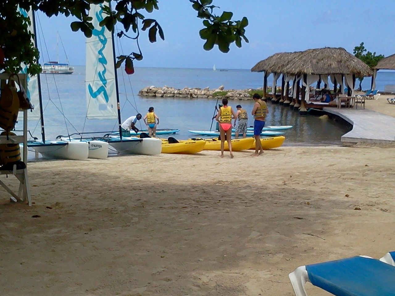 The beach at Sandals Resorts, Negril, Jamaica.