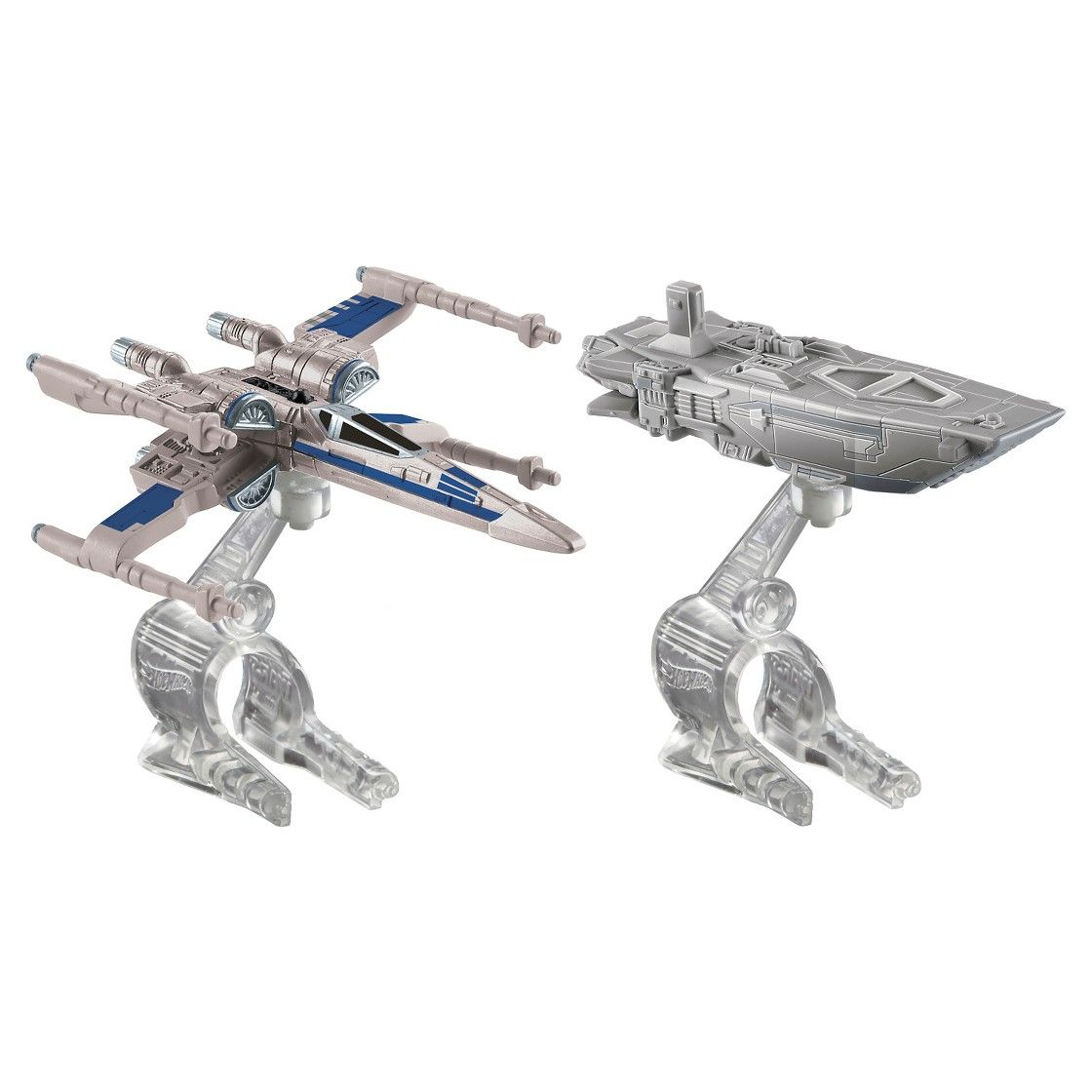 The Force Awakens First Order TIE Fighter vs Hot Wheels Star Wars Millennium Falcon Starship