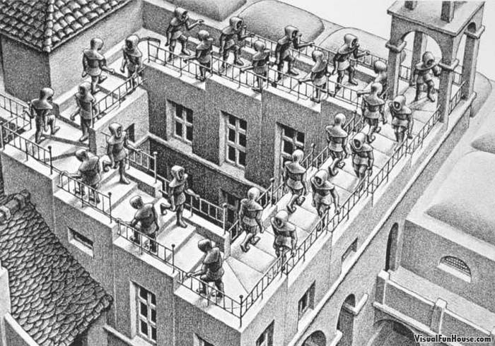 Escher S Work Ascending And Descending Stairs Is So Familiar