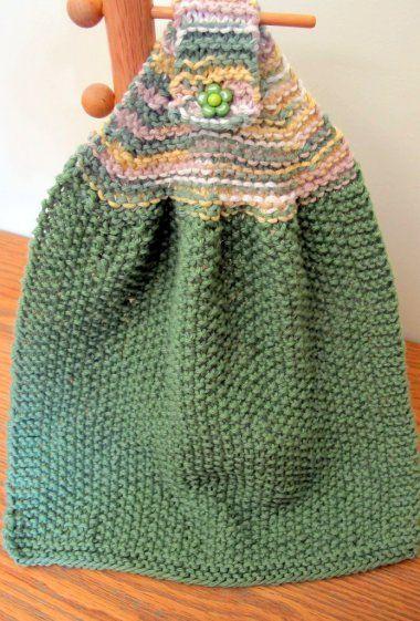 Hand knitted dish towel and dish cloth set | Dishcloth ...