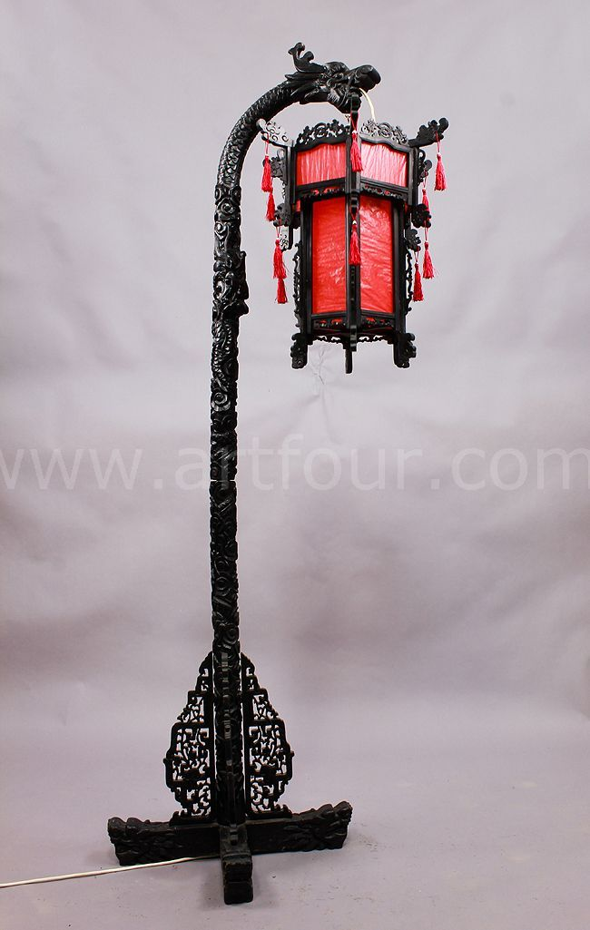 chinese dragon floor lamp ca. 1920   Oriental Design And Furniture ...