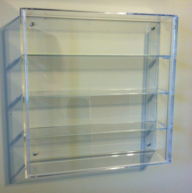 WALL MOUNTED DISPLAY CASE FOR 3 Inch VINYL FIGURES (Great For KidRobot  Dunnys And Fatcaps