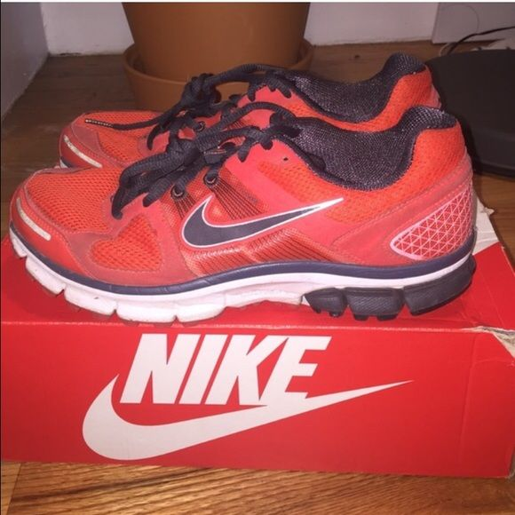 637bc08d46a0 Nike Pegasus 28 red and black Nike running shoes. Men s 8.5 women s 10. Red  and black. No box included Nike Shoes Athletic Shoes