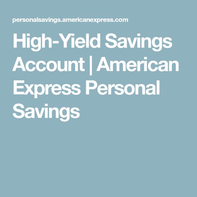 is american express high yield savings fdic insured