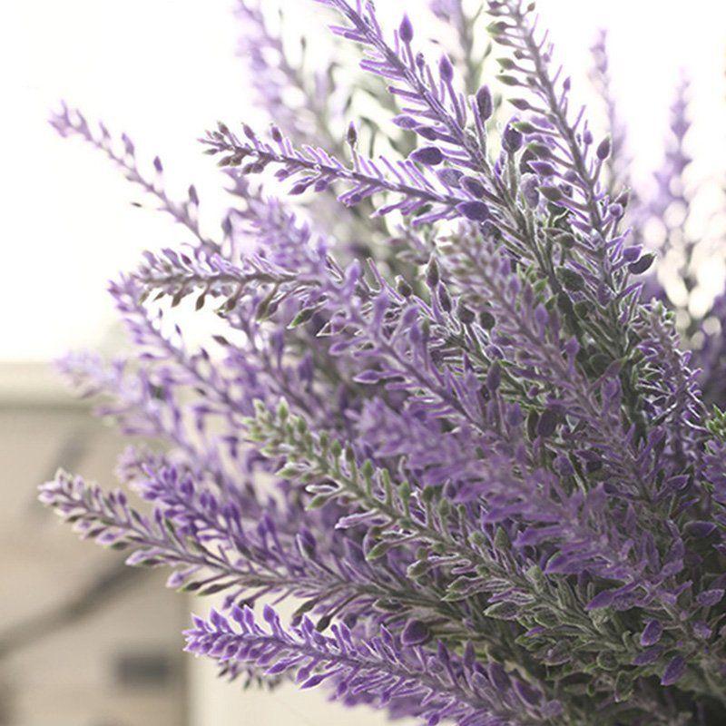 Romantic Artificial Flowers Lavender Decorative Artificial Flowers Artificial Flower Bouquet Fake Flowers