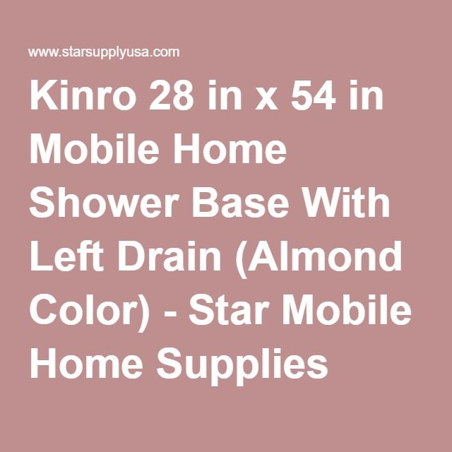 Kinro 28 In X 54 In Mobile Home Shower Base With Left Drain