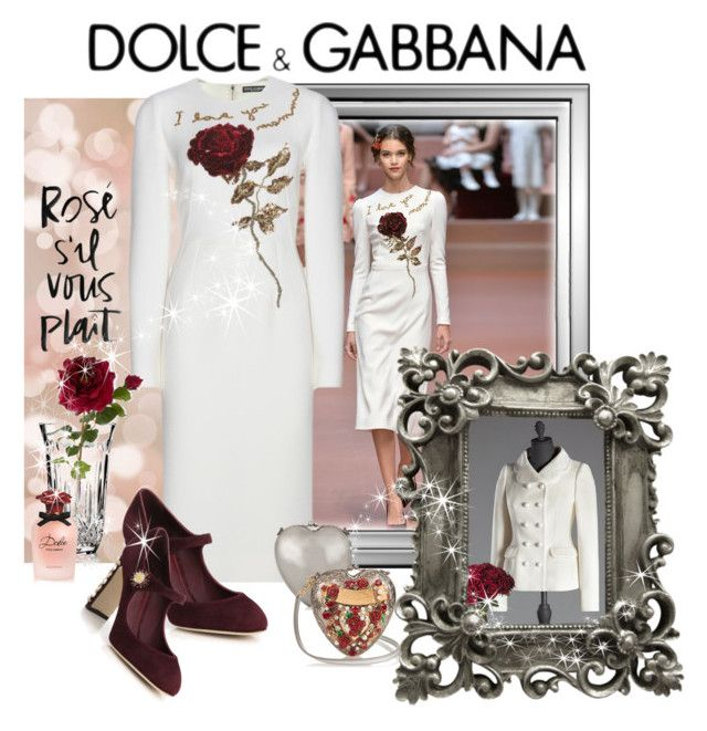 """""""The Rose"""" by leanne-laviolette ❤ liked on Polyvore featuring Dolce&Gabbana, Sia, Waterford and dolceandgabbana"""