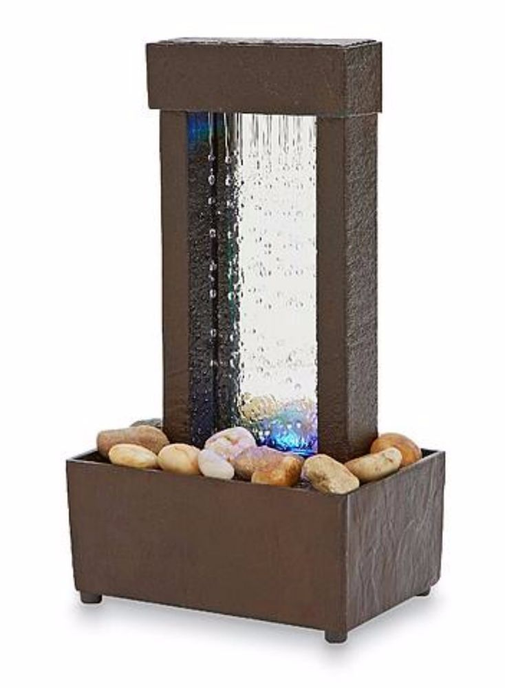 Indoor Tabletop Water Fountain Mini Desk Waterfall Tranquil Home Decor Giftu2026