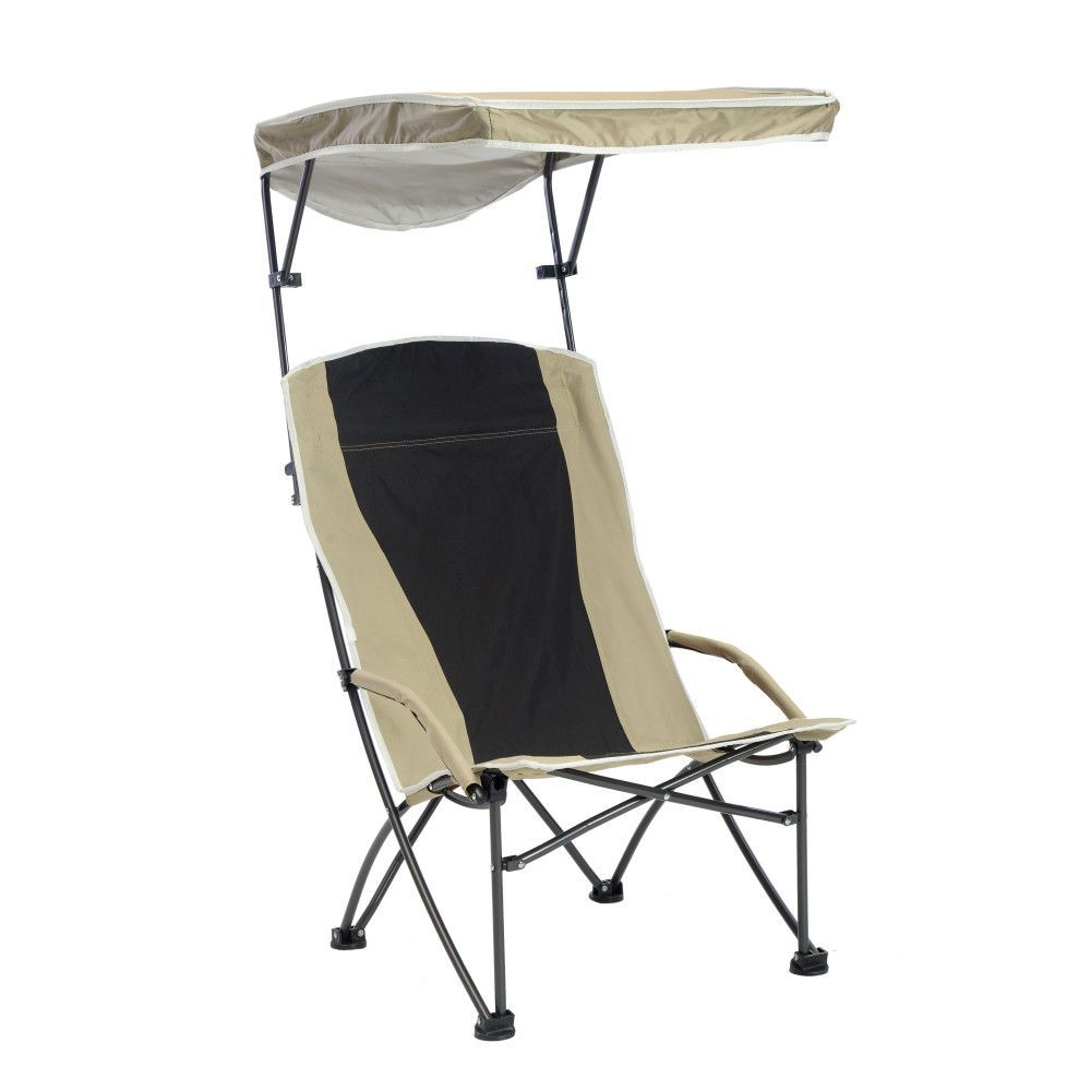 Pro Comfort High Back Shade Folding Chair Tan Black Folding