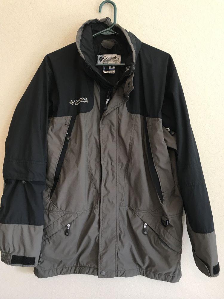 91fcbf91c Columbia Sportswear Men's Medium Jacket CORE Double Whammy Waterproof Black  Gray #ColumbiaSportswearCo #Jacket