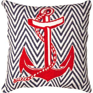 Fun nautical anchor throw pillow. Perfect for coastal decorating!