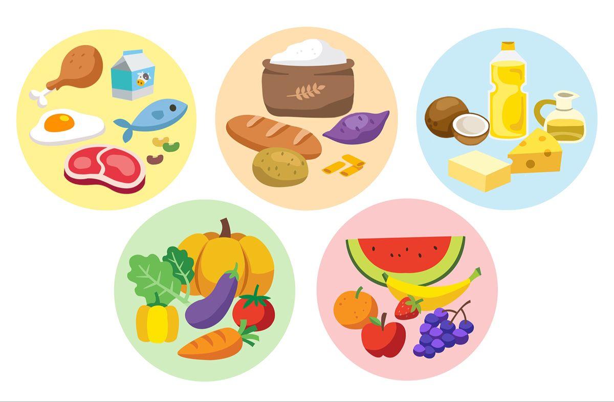 การ ต น อาหารหล ก 5 หม In 2021 Dieta Sugar Cookie Pincode