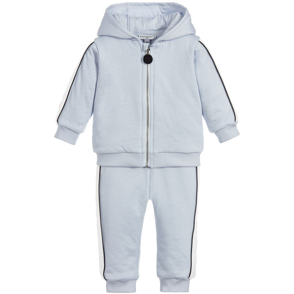 98e0dd3454b7 Blue Padded Baby Tracksuit for Boy by Givenchy Kids. Discover the latest  designer Tracksuits for kids