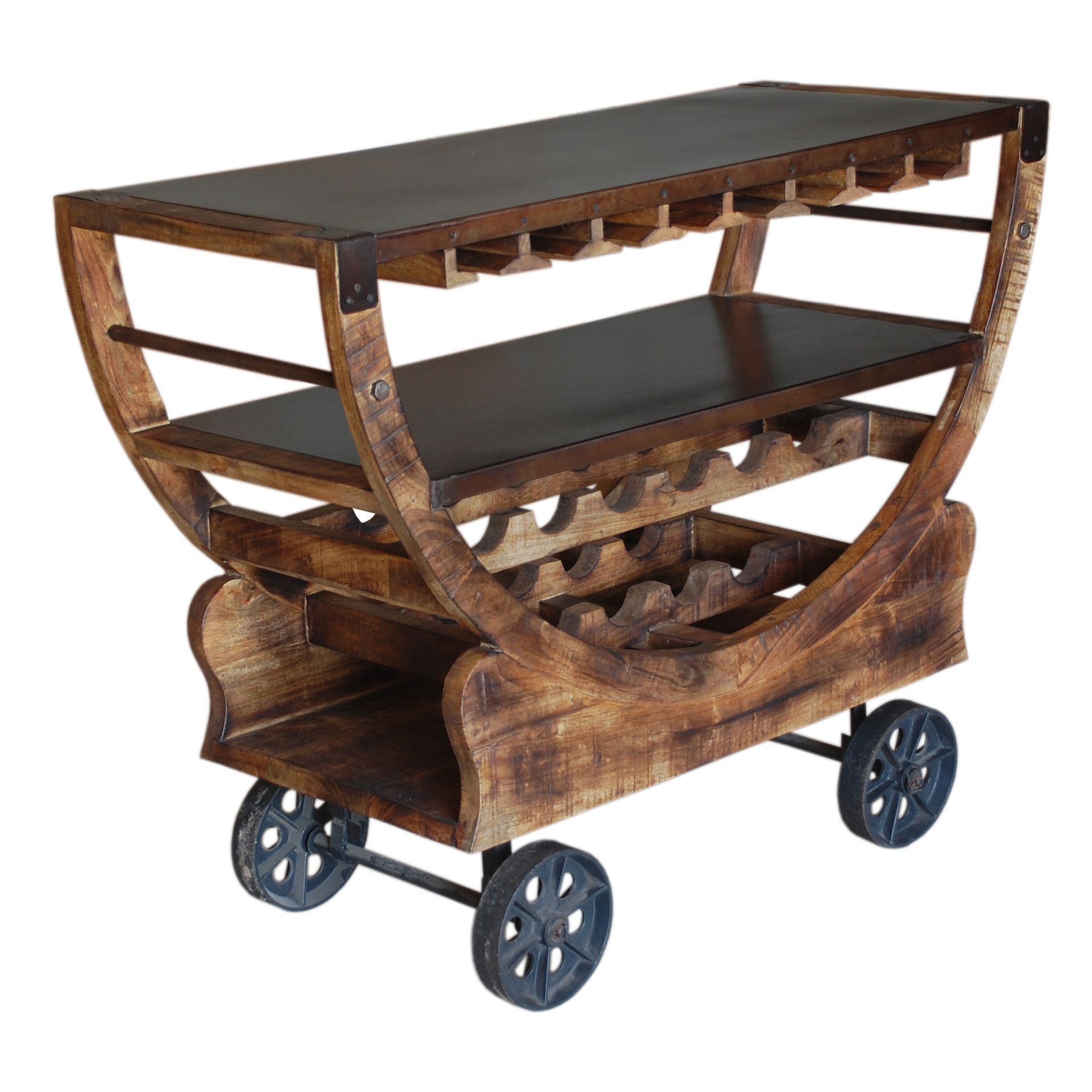 Lovely Perfect As A Home Bar Or Breakfast Station In Your Kitchen Or Dining Room,  This Charming Serving Cart Features 2 Shelves And A Castered Design.
