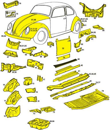 Vw Beetle Super Body Panels Vw Beetles Vw Super Beetle Vw Beetle Parts