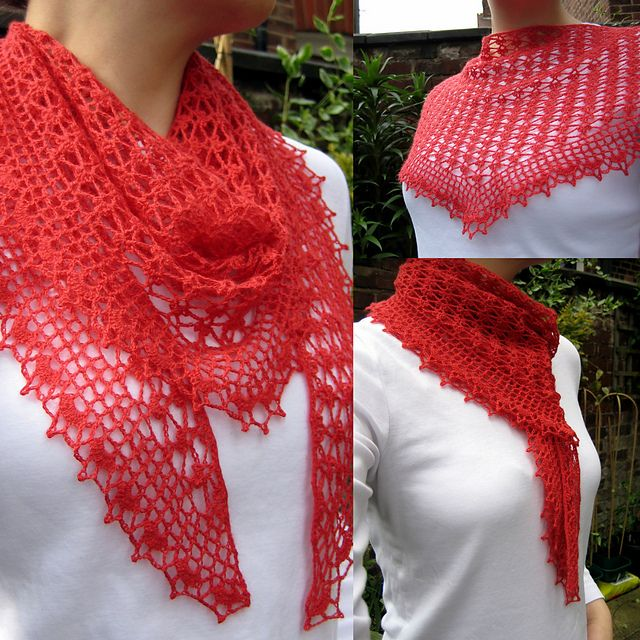Ravelry: Summer Sprigs Lace Scarf pattern by Esther Chandler, free. Winner for this in Crochet Award 2015.