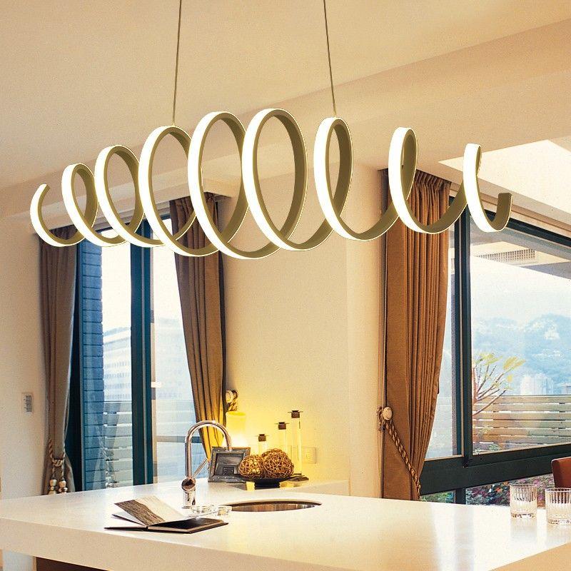 Minimalism Modern Led Pendant Lights For Dining Room Aluminum