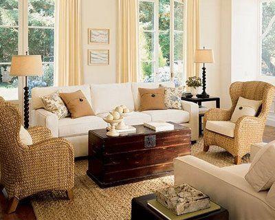 Sala sillones beige decoraci n interiores redise a - Sillones de decoracion ...
