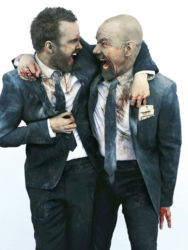 Entertainment Weekly photo shoot. Bryan Cranston and Aaron Paul