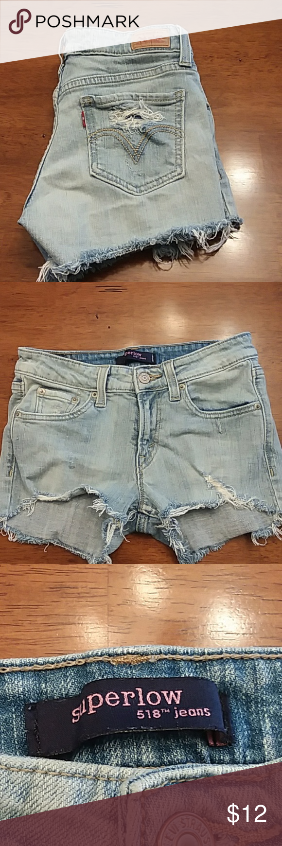 🇺🇸 4th of July SALE! 🇺🇸 Distressed Levi's Jean shorts. Cute with everything!!! Levi's Shorts Jean Shorts