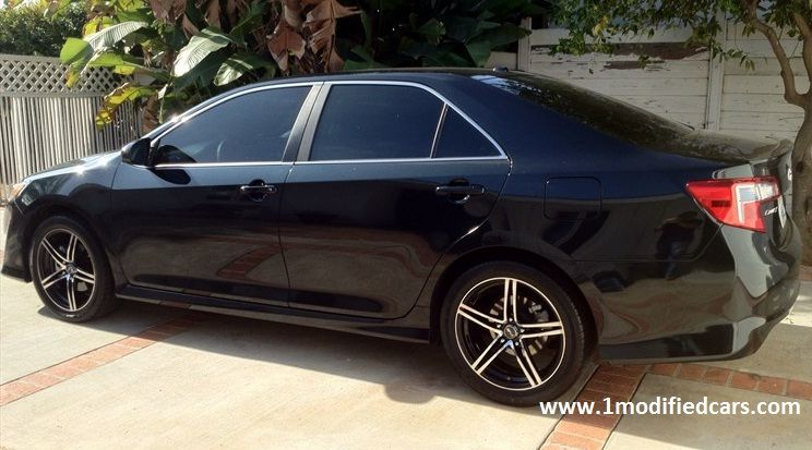 Modified 2012 Toyota Camry SE V6 Blackout Tinted 18 Inches MSR 048  245/45/18 Goodyear Eagle RS A