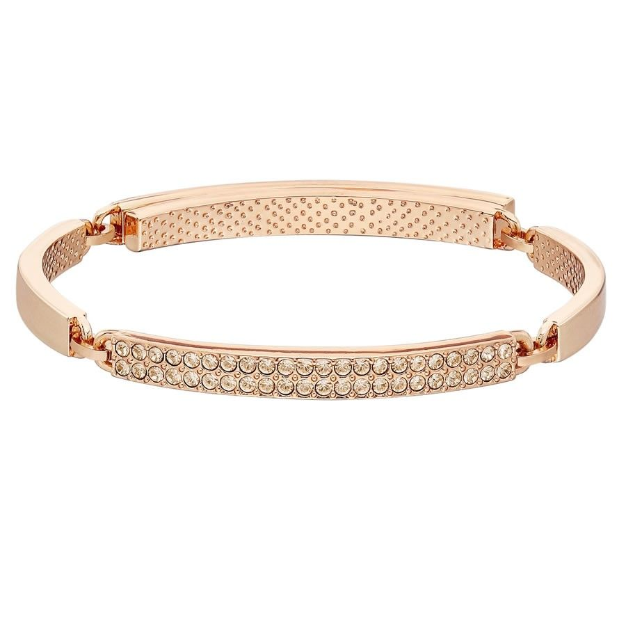 Miss Havisham/' Encrusted Skinny Bangle Rose Gold New