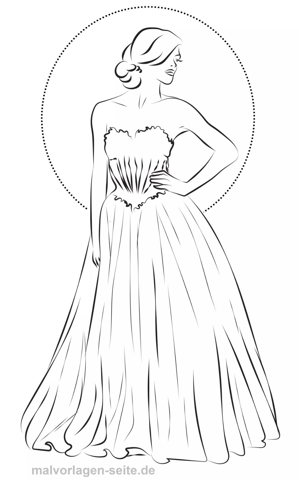 Malvorlage Mode Abendkleid Gratis Malvorlagen Zum Shabby Chic Crochet Female Sketch Drawing Inspiration