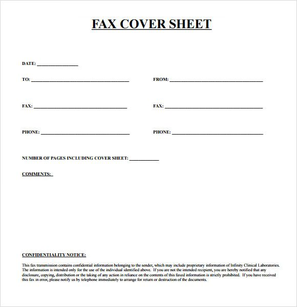 Fax Cover Sheet Template Pdf Format (580×600) | DIY Beauty | Pinterest  | Cover Letter Sample, Sample Resume And Letter Sample