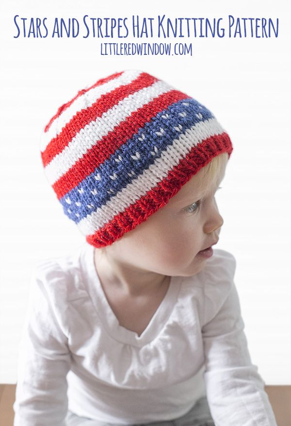 4th of July Stars & Stripes Hat Knitting Pattern | Stricken und ...